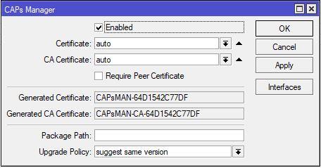 CAPsMAN – Particularități de configurare și opțiuni asunse